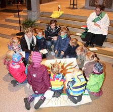 Kleinkindergottesdienst in St. Vitus Olfen - Foto: kath. Kirchengemeinde