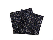 Herren Anzug Fliege zum selbstbinden in blau, paisleymuster - Schleife