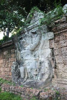 Garuda esculpida en los muros del Templo de Preah Khan