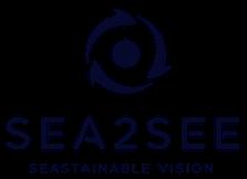 Sea2See Logo, Nachhaltigkeit und Umweltschutz durch Reduzierung des Plastikmülls in den Meeren und Weiterverarbeitung zu Brillen und Sonnenbrillen