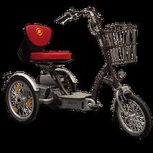 Van Raam EasyGo Scooter-Dreirad Elektro-Dreirad Beratung, Probefahrt und kaufen in Pfau-Tec Scootertrike Sessel-Dreirad Elektro-Dreirad Beratung, Probefahrt und kaufen in Karlsruhe