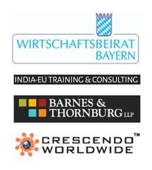 Expandeers Partner Wirtschaftsbeirat Bayern, Crescendo, Barnes Thornburg and India EU Training