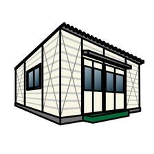 プレハブ仮設建物のイメージ