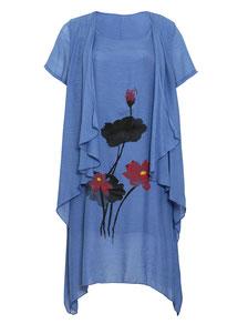 Layer Kleid blau Gr 48