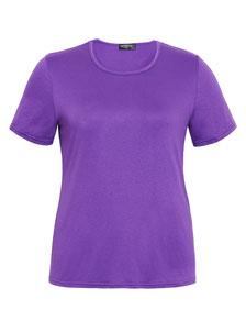 lila T-Shirt für runde Frauen, Größe  52 , XXL