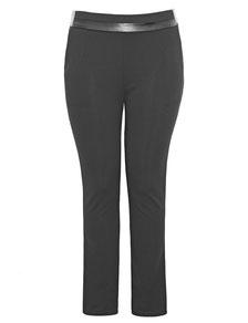 elastischer Damen-Hose mit Stretch für große Größen, schwarz