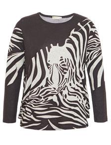 Pullover braun Zebradruck in Größe 50