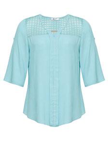 angenehm softe plussize Damen-Bluse in großen Größen