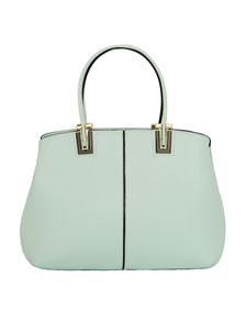 Elegante pastelgrüne Handtasche