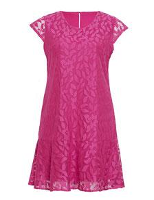 elegantes Kleid in großen Größen rosa , Rosa Kleid für Mollige