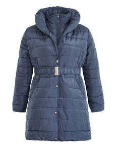 Step-Mantel blau Gr 46, wattierter mantel XXL