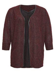 elegante Plus Size Jacke bordeaux rot Gr 44