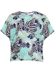 elegantes Chiffon-Top mit Fledermausärmel pastelgrün in Größe 50, Plus Size Fashion