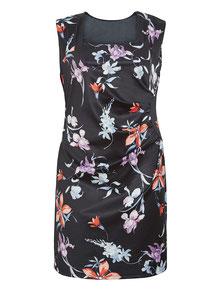 Blumenkleid für mollige Frauen , Kleid Größe 52