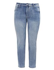 Blue Jeans mit Strass in Größe 42 bis 52 , darkblue