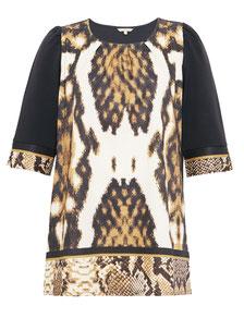 elegantes Kleid in großen Größen, Tulpenkleid mit modernem Grafik-Print XXL