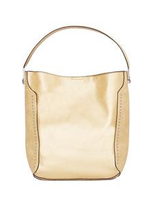 goldene Handtasche