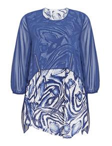 elegantes Kleid in großen Größen, blaues Kleid XXL