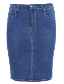 Strech Jeans Rock für kurvenreiche Frauen