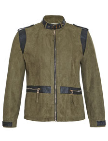Blouson in Wildlederimitation khaki Gr 46