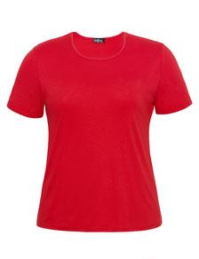 rotes T-Shirt für runde Frauen, Größe 42 bis 52
