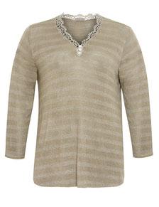 leichter Damen Pullover beige in Größe 52