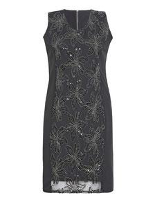 schwarzes elegantes Kleid in Größe 50