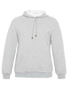 günstges graues Sweatshirt in großen Größen