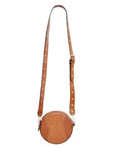 modische braune Bohemian Handtasche klein rund