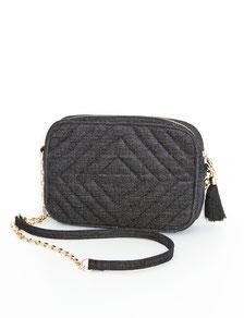 Stofftasche klein und gesteppt schwarz günstig