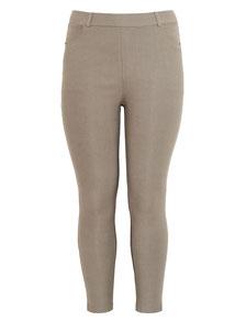 braune Damenhose in übergröße , Damenhose in Gr 48
