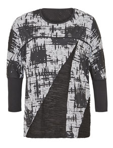 Damen Pullover grau in großen Größen