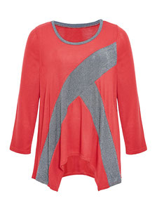 roter Frauen Pullover für den O-Typen