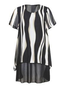 Kleid asymmetrisch streifen größe 46