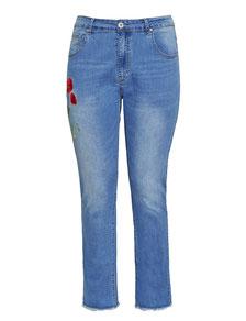 Damenjeans XXL, moderne Bootcut Jeans in grossen grössen
