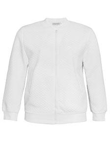 weiße Jacke in übergröße