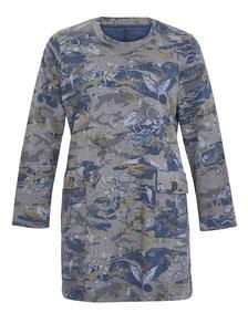 sportliches Kleid Camouflage Druck blau Größe 50