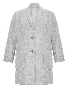 Damen-Mantel grau Gr 48