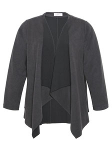 graue Layer-Jacke in Größe 48