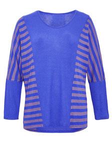 Pullover blau für runde Frauen Größe 42 bis 56