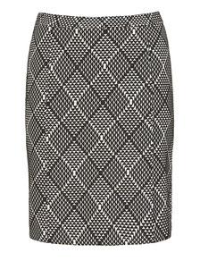 Schlauchrock mit Spitzendruck Gr 46