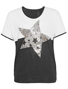 Oversize-Shirt mit Pailletten , Damenmode  Größe 52