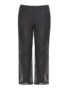 elegante Damenhose aus Spitze schwarz  XXL