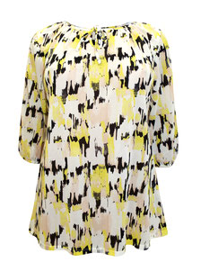 gelbe Damen Tunika Bluse