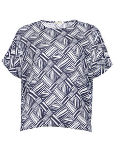 Damen T-Shirt gemustert in großen Größen