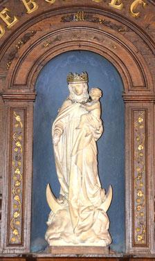 Vierge sculptée par Louis Duthoit