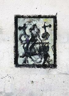 Martin-Mohr-Goldenes Kalb-2021-Acryl-Lack-und-Öl-auf-Holz-26x20-cm