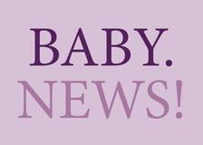 Sticker Geburtskarte Geburtsanzeige
