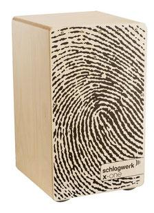 Cajon X-One Fingerprint - Birkeholzkorpus / Birke schlagfläche