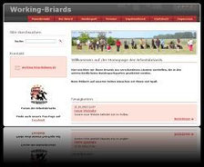 Website der Working Briards